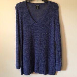Calvin Klein long V-Neck sweater Large